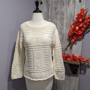 Tommy Bahama off-white tropical sweater